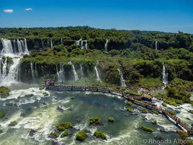 Iguazu Falls Park on the Brazil Side.