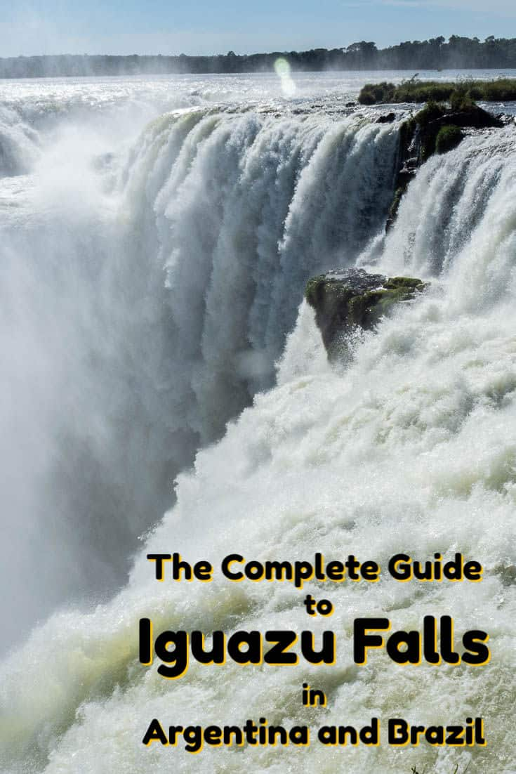 A Complete Guide to visiting Iguazu Falls. This photo-based article covers both the Argentina and Brazil sides, as the falls sit on the border. The falls comprise the world's largest waterfall system.  #travel #southamerica #brazil #argentina #iguazu #waterfalls