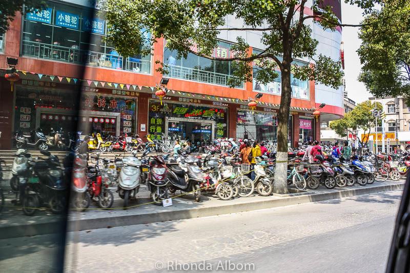 Street scene in Suzhou China