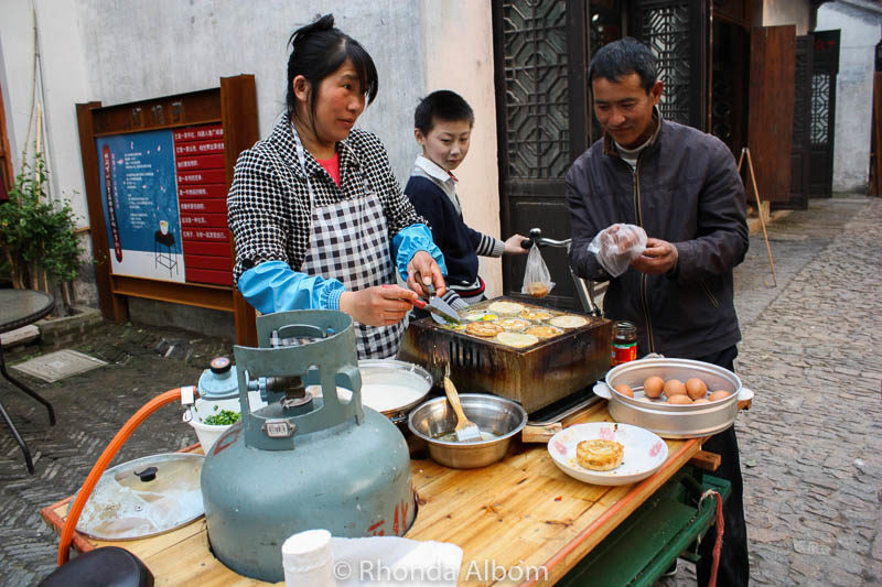 Street food in the Pingjiang Historic Quarter of Suzhou China