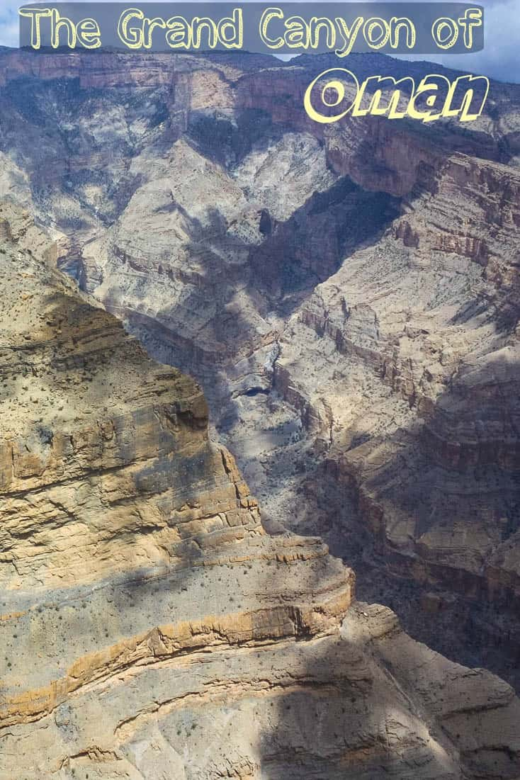 This is one of a collection of photos of the Grand Canyon of Oman, also called the Grand Canyon of Arabia.