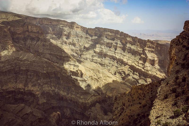 Jebel Shams - the Omani Grand Canyon