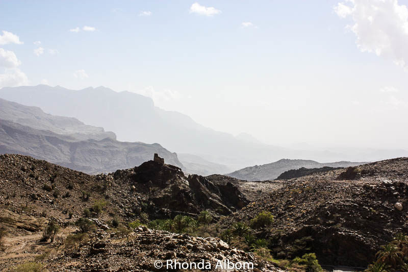 Seen from an Oman road leading to Jebel Shams - the Grand Canyon of Oman
