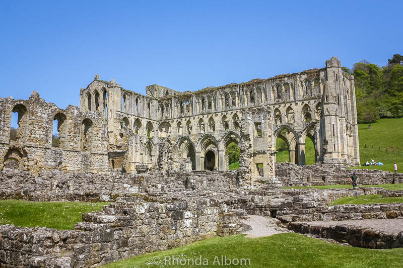 Rievaulx Abbey in the British Countryside