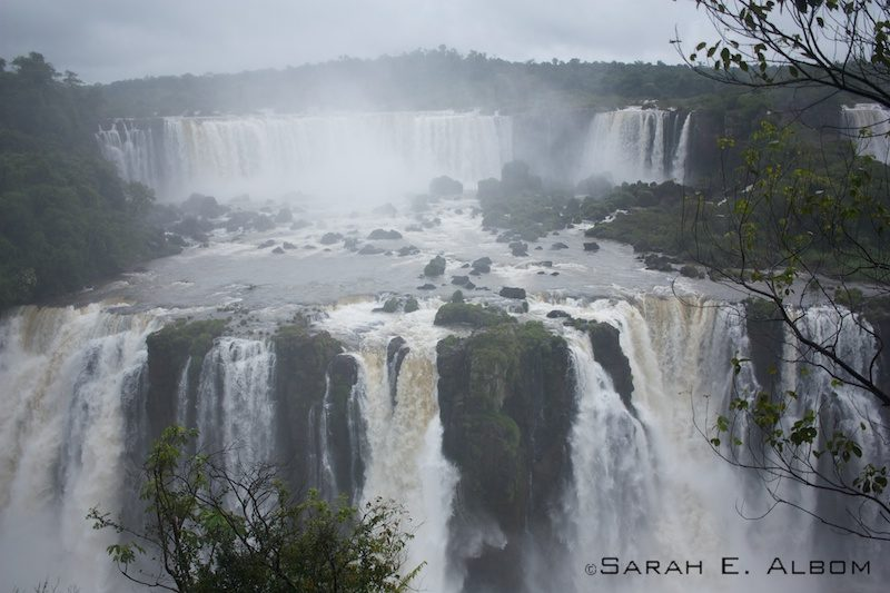 Iguazu Falls on the Brazilian and Argentinian border. Photo copyright ©Sarah Albom 2016