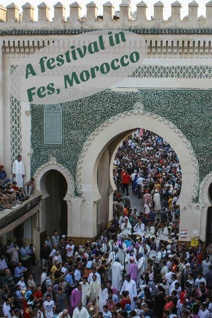 One of a collection of colourful photos of Moussem of Moulay Idriss II, an annual celebration in Fes, Morocco.