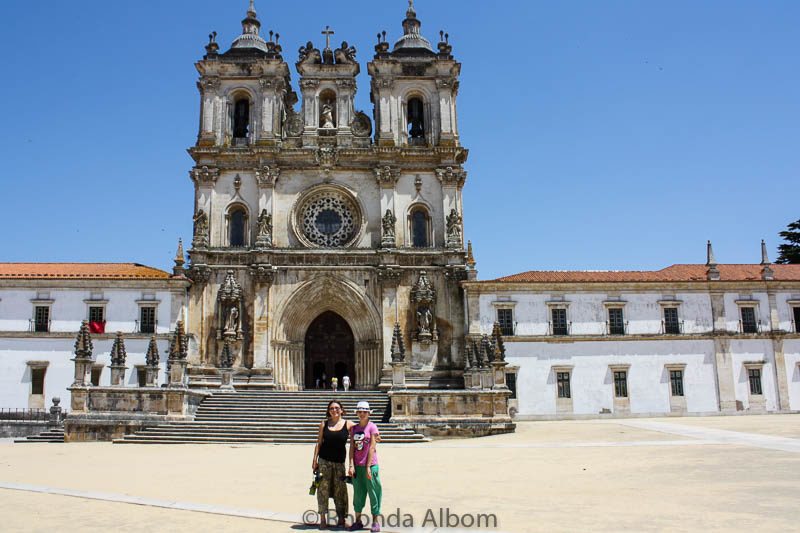 Our first view of the Monastery of Alcobaca Portugal