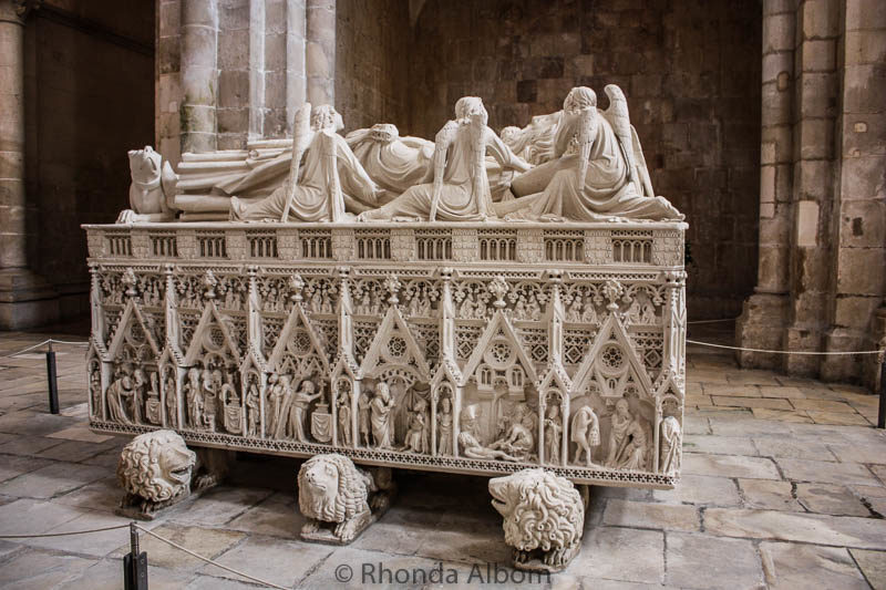 The Tomb of King Pedro I is one of the many intricately carved tombs inside the Monastery