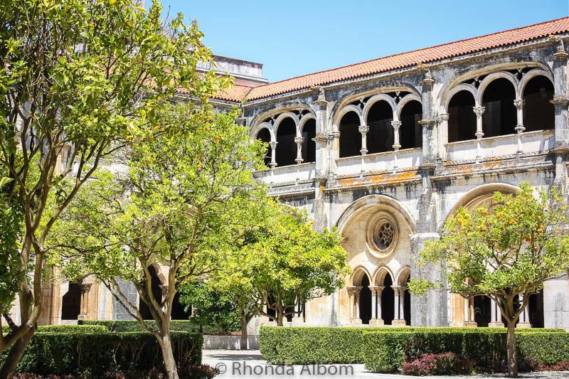 Cloister and church of the Alcobaça Monastery
