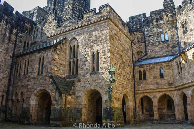 Alnwick Castle in England is the seat of the Duke of Northumberland.