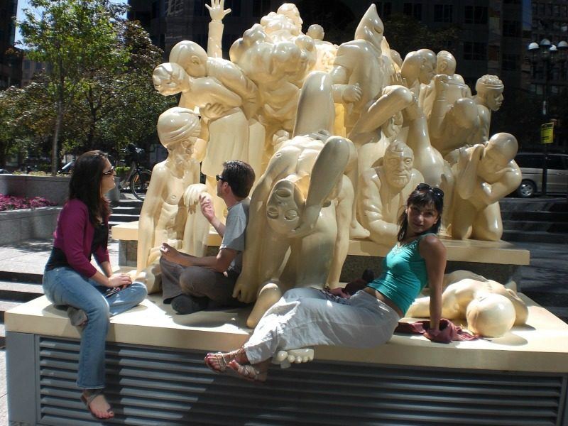 65 statues by Raymond Masonin the city of Montreal, Canada