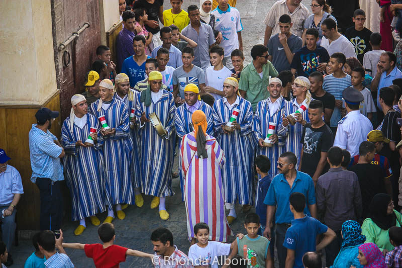 Musicians at Moulay Idriss II festival in Fes, Morocco