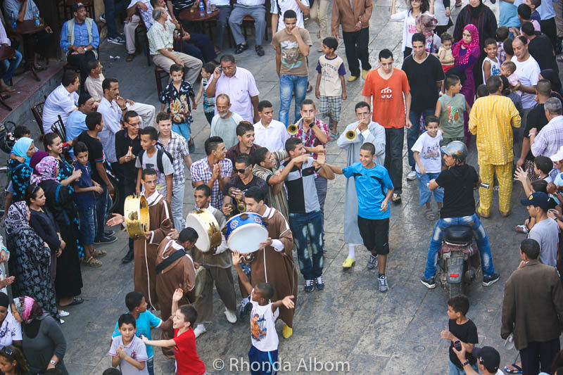 Children join in the Moussem of Moulay Idriss II in Fes Morocco