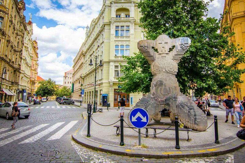 Getting Stamped Prague Statue