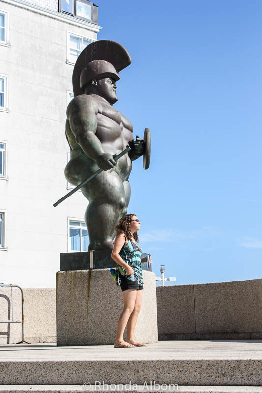 Roman Warrior in La Cornua, Spain