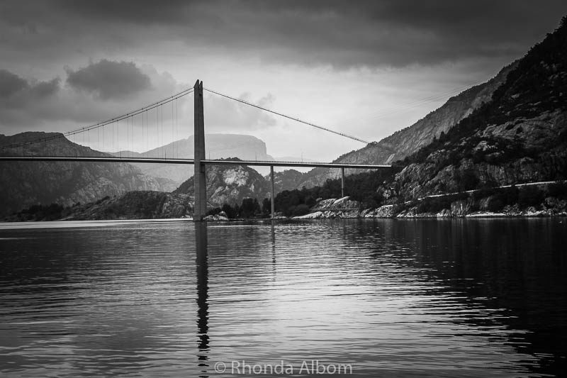 The Lysefjord Bridge is the only bridge that crosses of Lysefjord in Norway.