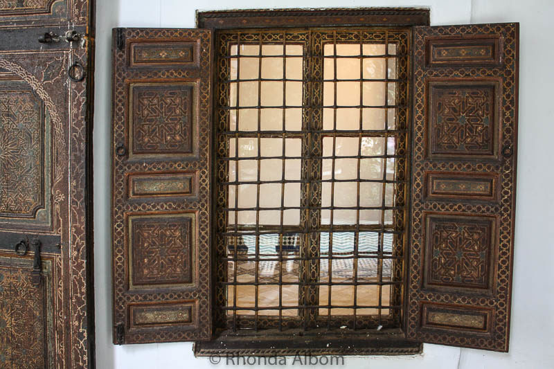 A window in Dar Si Said in Marrakesh Morocco