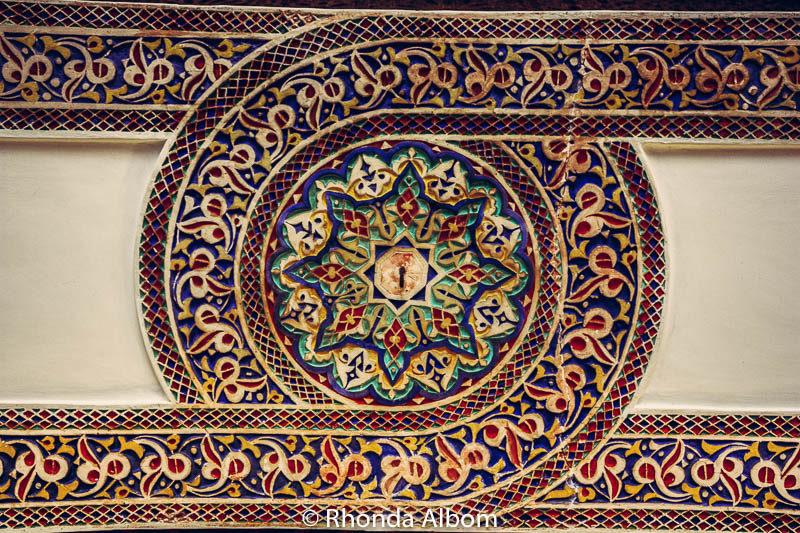 Mosaic pattern in Marrakesh Morocco