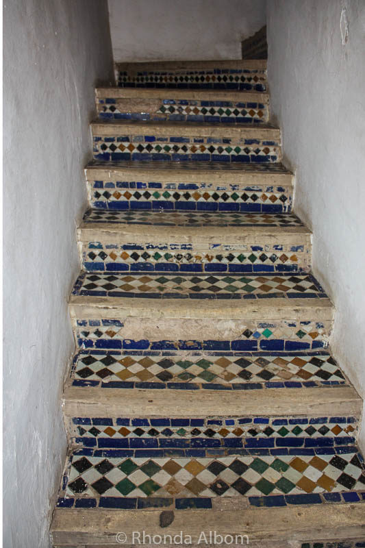 Stairs in Dar Si Said in Marrakesh Morocco