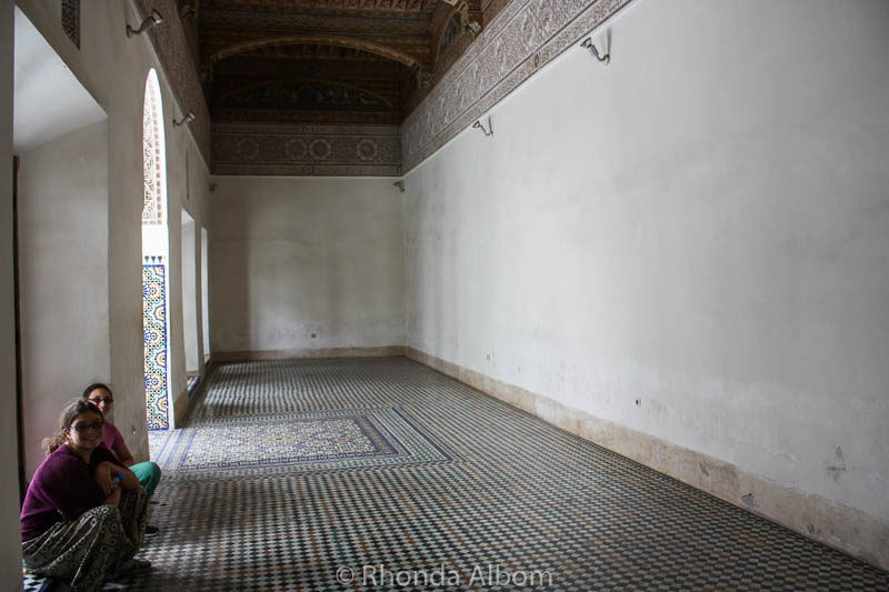 Inside El Bahia Palace in Marrakesh Morocco