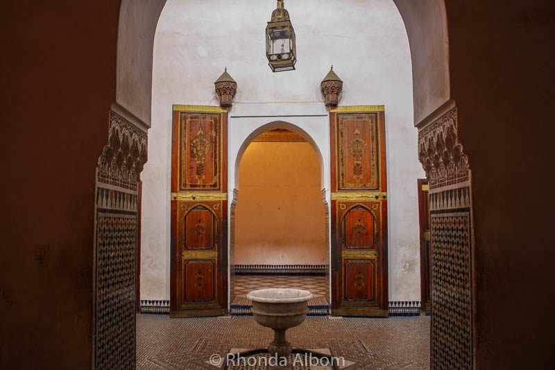 Doors in El Bahia Palace in Marrakesh Morocco