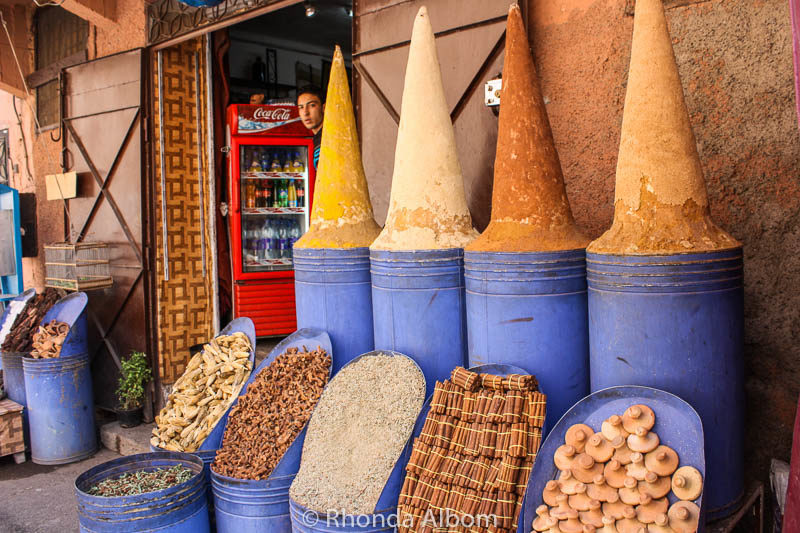 Spices for sale in Marrakesh Morocco