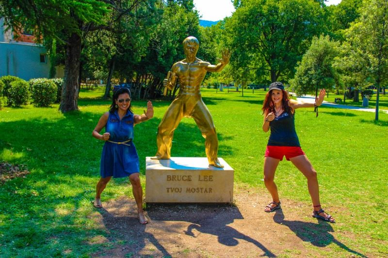 Mostar Bruce Lee Statue - Gallivant Girl