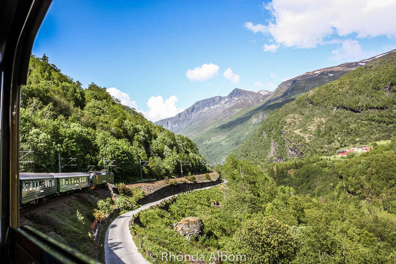 The Flamsbana train from Voss back to Flaam