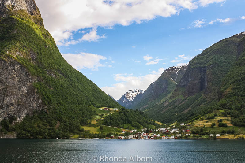 Sognefjord in Norway as seen from a cruise ship.