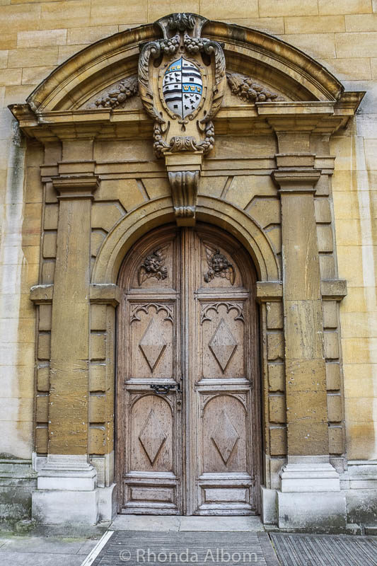 Interesting door in Oxford, England