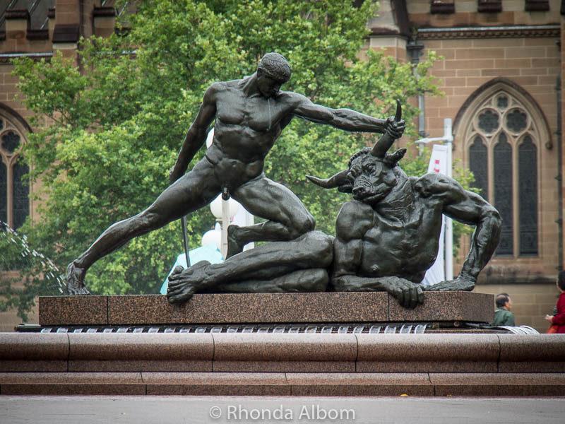 Theseus and the Minotaur in Sydney, Australia