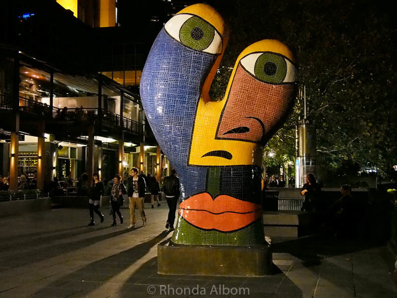 Sculpture Ophelia in Melbourne Australia