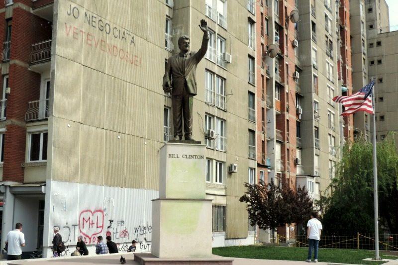 Bill Clinton Statue in Kosovo
