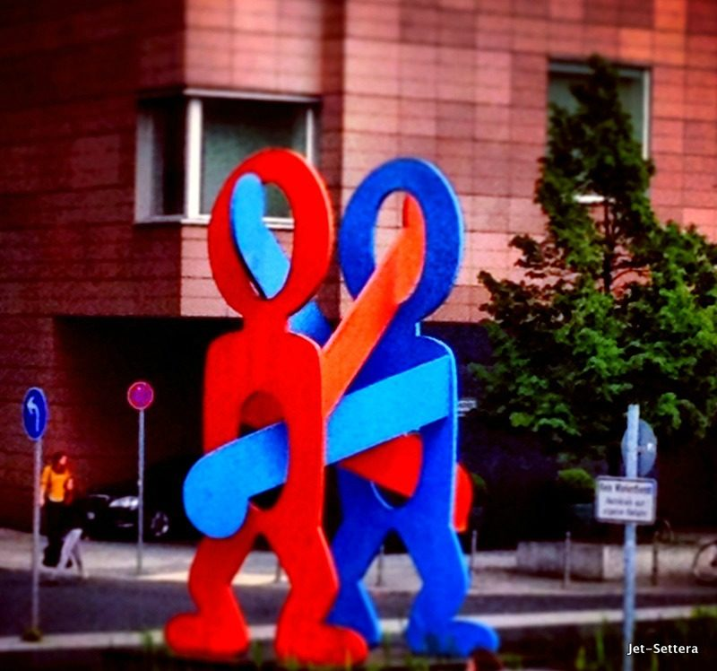 Keith Haring statue in Berlin Germany