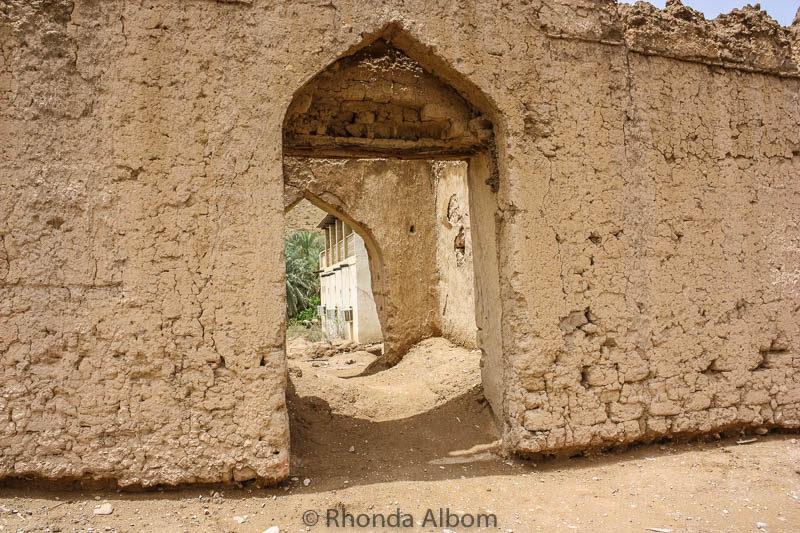 Walking the backroads in Muscat Oman