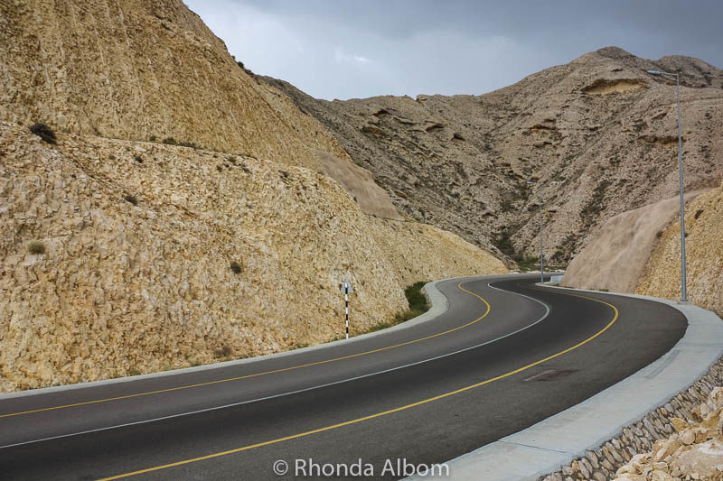 A typical coastline road in Muscat Oman