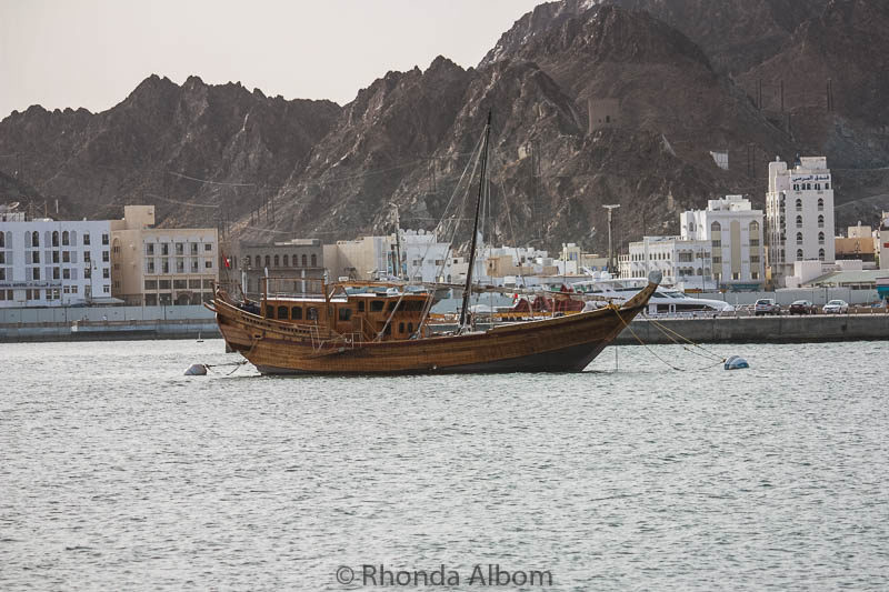 Boats on the Gulf of Oman off of Muscat