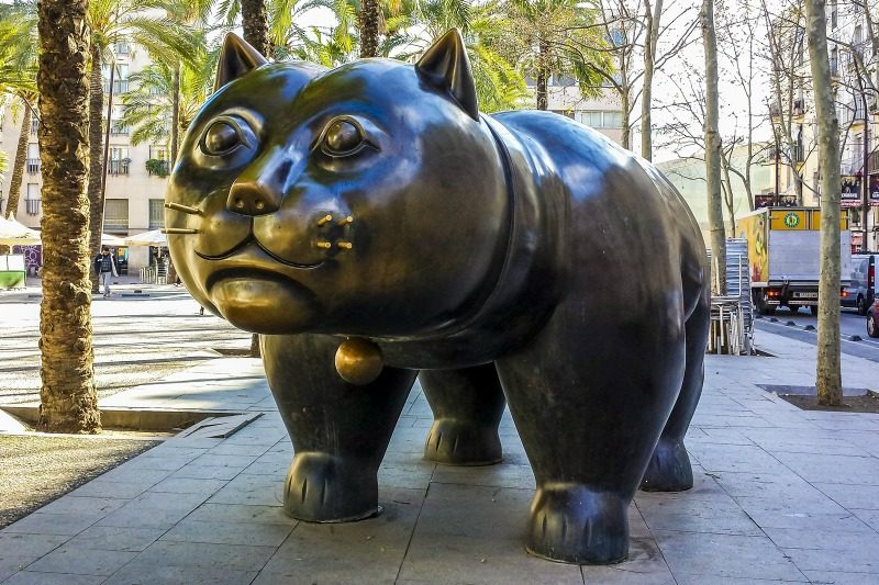 Botero cat in Barcelona Spain
