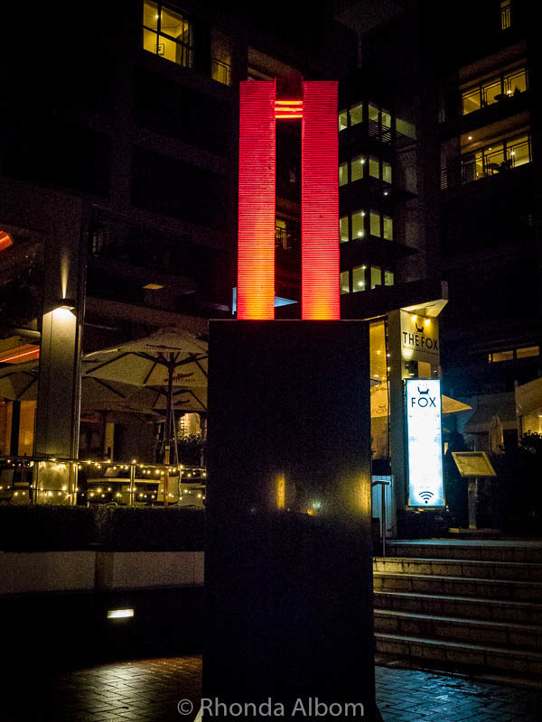Artwork at night in Auckland New Zealand