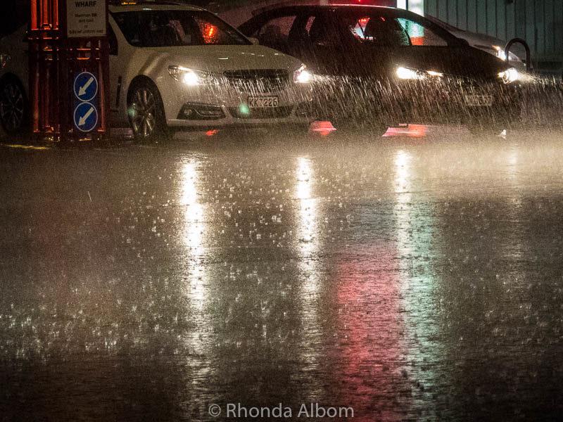 A rainy Auckland night