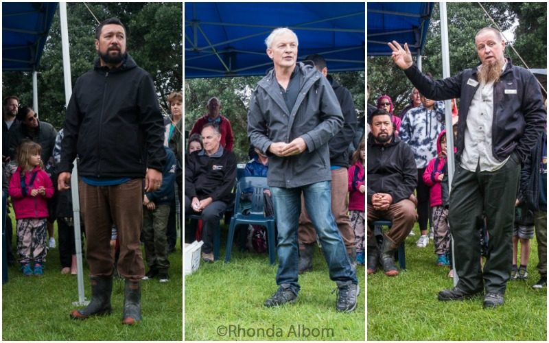 Speakers at Kiwi Release in Shakespear Park3