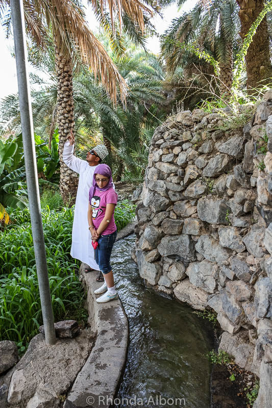 Irrigaion system in Misfat Al Abriyeen Oman
