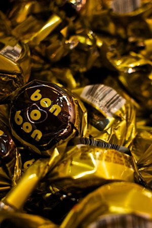 A bin full of bon o bons in Buenos Aires, Argentina, one of many Argentinian sweets. Photo copyright ©Sarah Albom 2016