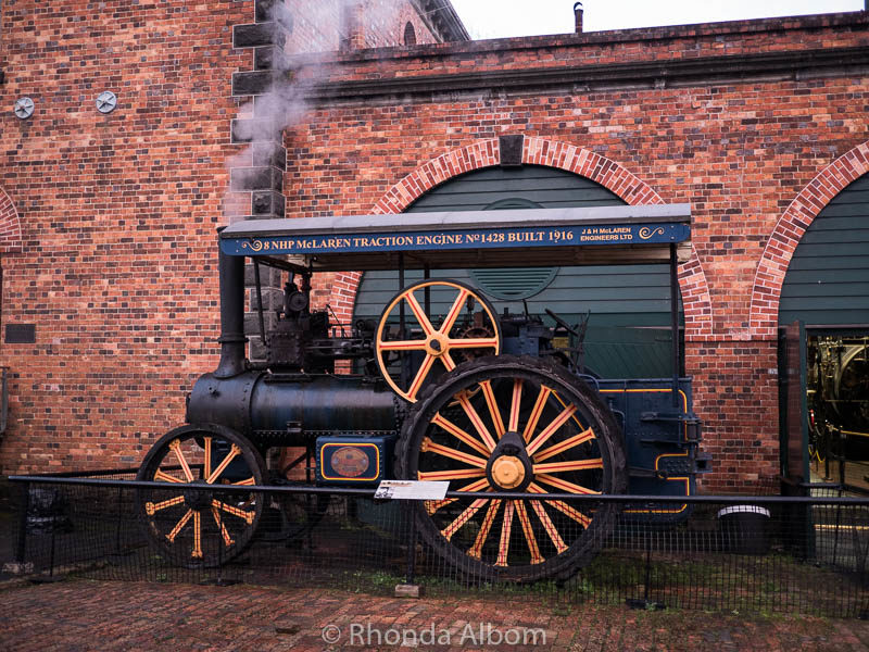Working steam traction engine at MOTAT in Auckland New Zealand