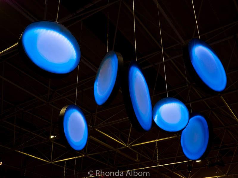 An artist interpretation of the seven stars of Matariki on display at MOTAT in Auckland New Zealand