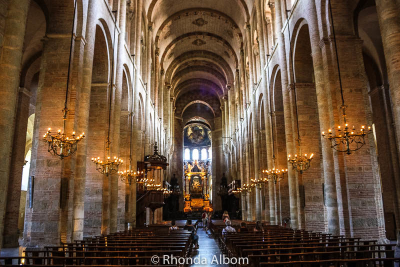 Nave of the Basilica of Saint Sernin in Toulouse France