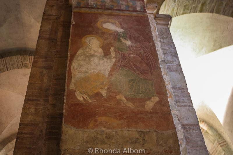 The transept of Saint Sernin inside the Basilica of Saint Sernin in Toulouse France