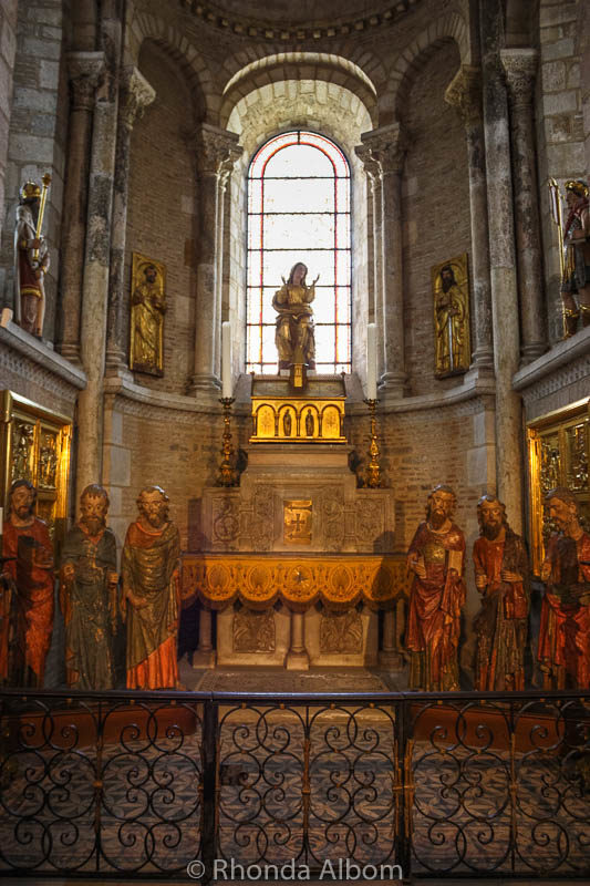The central chapel in the ambulatory of the Basilica of Saint Sernin in Toulouse France