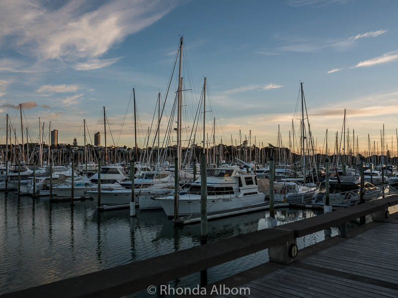 Yachts at Westhaven Marina in Auckland New Zealand