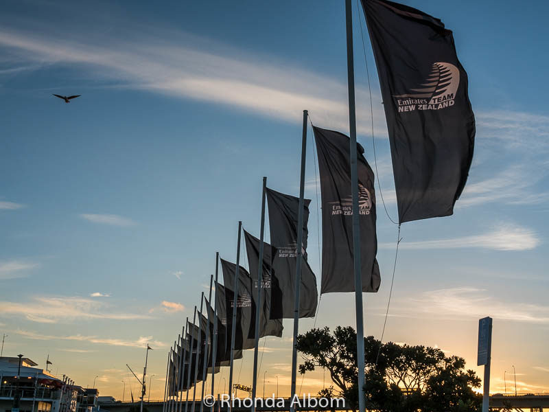 Flags fly proudly in support of Emirates Team New Zealand